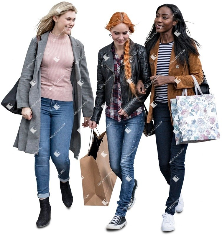Cut out people - Group Of Friends Shopping 0010 preview