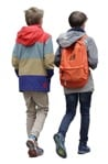 Photoshop people walking two teenagers going to school | MrCutout.com