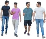 Cut out people - Group Of Friends Walking 0005 | MrCutout.com