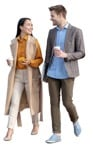 People walking with coffee cups in smart casual clothing human png | MrCutout.com