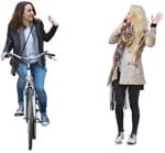 Cut out people - Group Of Friends With A Smartphone Cycling 0002 | MrCutout.com