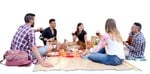 Cut out people - Group Of Musicians Eating Seated 0003 | MrCutout.com
