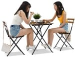 Cut out people - Group Of Teenagers Eating Seated 0002 | MrCutout.com