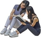 Cut out people - Group Of Teenagers Reading A Book Learning 0001 | MrCutout.com