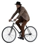 Cut out people - Man Cycling 0013 | MrCutout.com