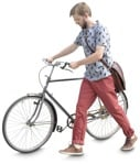 Cut out people - Man Cycling 0023 | MrCutout.com