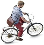 Cut out people - Man Cycling 0026 | MrCutout.com