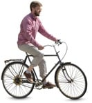 Cut out people - Man Cycling 0033 | MrCutout.com
