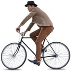Cut out people - Man Cycling 0048 | MrCutout.com