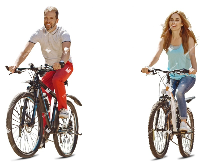 Cut out people - Man Cycling 0054 preview