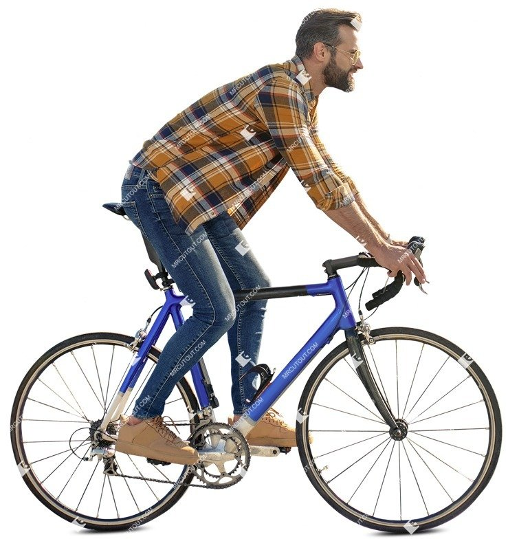 Cut out Man Cycling 0059