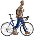 Cut out Man Cycling 0061 | MrCutout.com