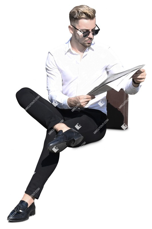 Cut out people - Man Reading A Newspaper 0006 preview