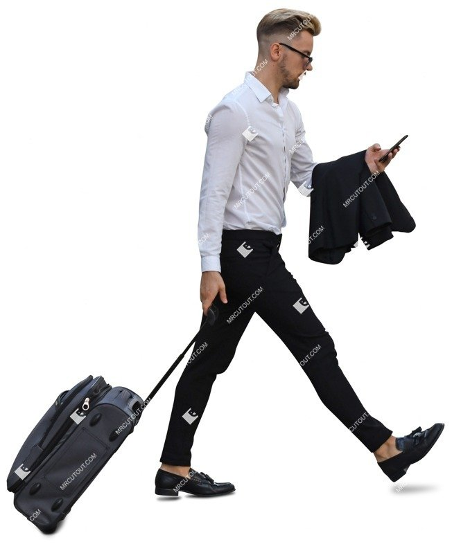 Cut out people - Man With A Baggage Walking 0016