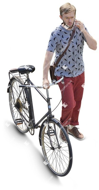 Cut out people - Man With A Smartphone Cycling 0005 preview