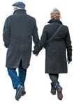 Cut out people - Middle Age Elderly Couple Man Woman Grandfather Grandmother Walking 0001 | MrCutout.com