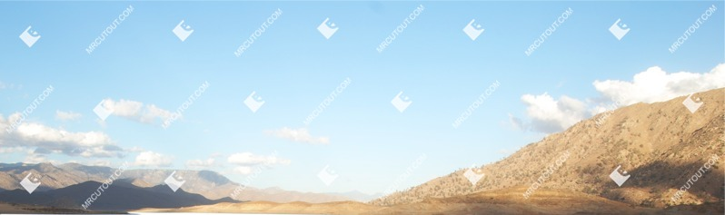 Cut out Mountains Hills Desert Fields 0001