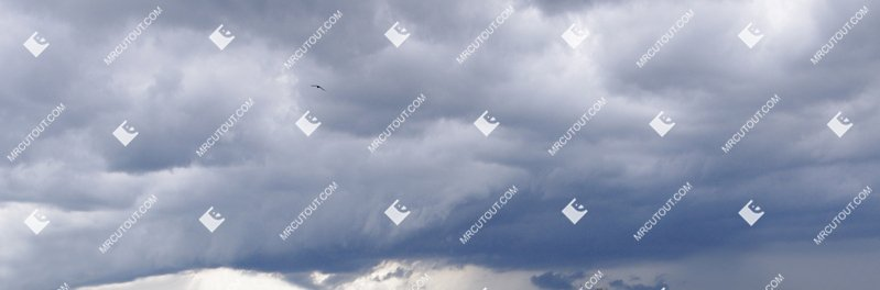 Sky for photoshop - Rainy Clouds 0004 preview