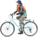 Cut out people - Teenager Cycling 0005 | MrCutout.com