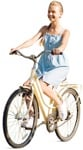 Cut out people - Teenager Girl Cycling 0001 | MrCutout.com