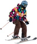 Cut out people - Teenager Skiing 0015 | MrCutout.com