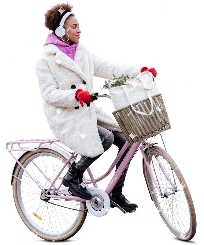 Cut out people - Woman Cycling 0004 preview