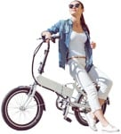 Cut out people - Woman Cycling 0007 | MrCutout.com