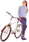 Cut out people - Woman Cycling 0022 | MrCutout.com