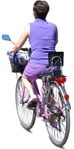 Cut out people - Woman Cycling 0034 | MrCutout.com