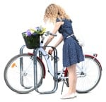 Cut out people - Woman Cycling 0044 | MrCutout.com