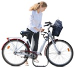 Cut out people - Woman Cycling 0066 | MrCutout.com