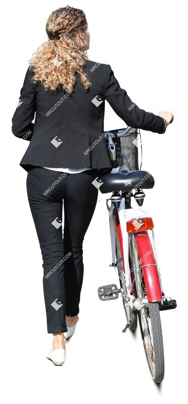 Cut out people - Woman Cycling 0071
