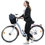 Cut out people - Woman Cycling 0072 | MrCutout.com
