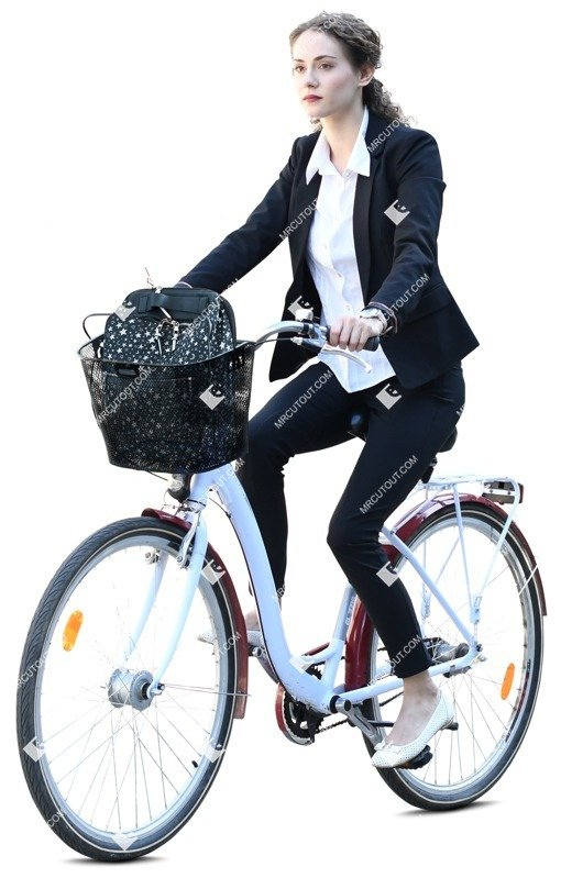 Cut out people - Woman Cycling 0074