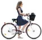 Cut out people - Woman Cycling 0080 | MrCutout.com