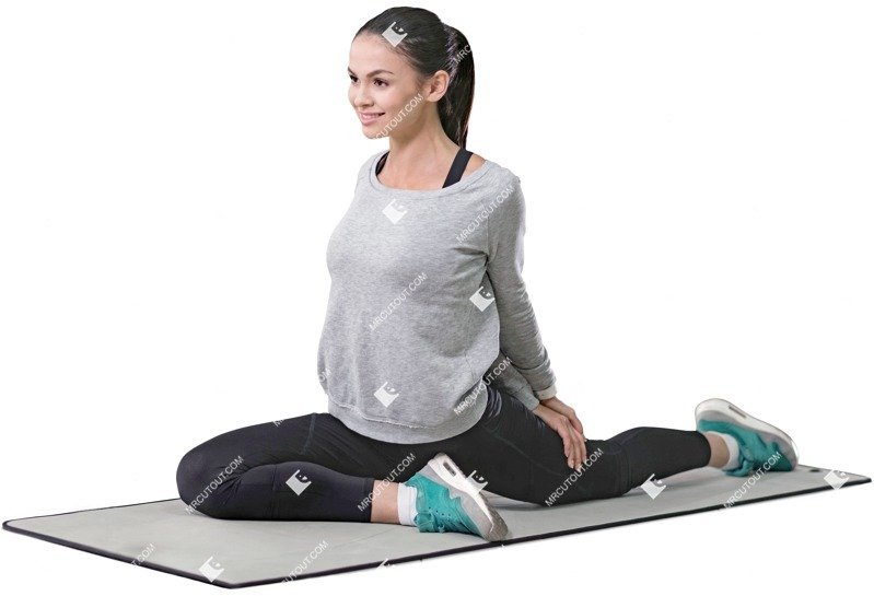 Cut out people - Woman Doing Yoga 0019