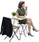 Cut out people - Woman Drinking Coffee 0052 | MrCutout.com