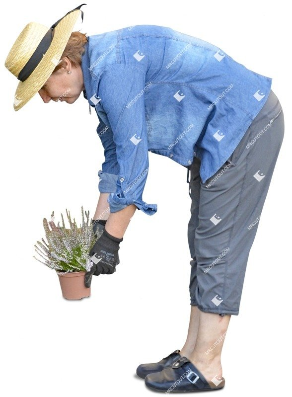 Cut out Woman Gardening 0034 preview