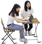 Cut out people - Woman Teenager Sitting 0001 | MrCutout.com