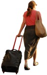 Cut out people - Woman With A Baggage Walking 0002 | MrCutout.com