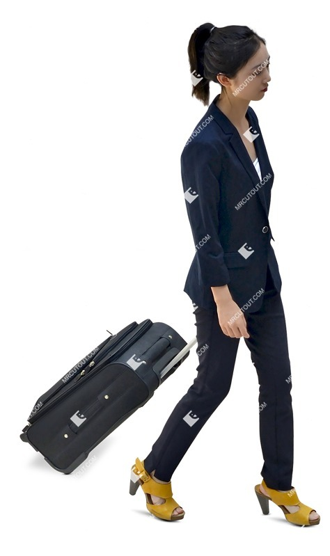 Cut out people - Woman With A Baggage Walking 0018 preview