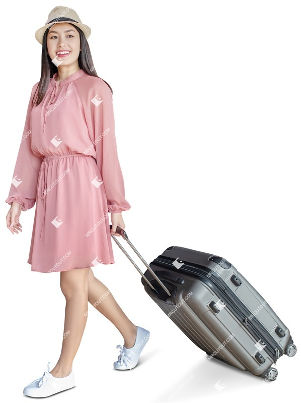 Cut out people - Woman With A Baggage Walking 0021 preview