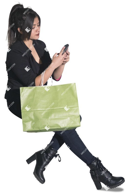 Cut out people - Woman With A Smartphone Shopping 0002 preview