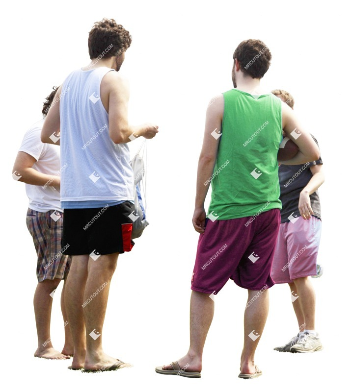 Cut out people - Young Adult Group Friends Man Standing 0001 preview